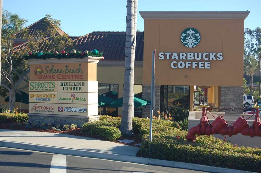 Starbucks in the Solana Beach Towne Center will soon begin serving beer, wine and an expanded small-plates menu from 4 to 10 p.m. daily.  Photo by Bianca Kaplanek
