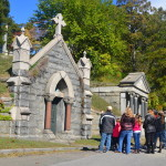 Some of the more well-to-do residents of Sleepy Hollow Cemetery have built vaults that hold multiple family members. Today's price for such an arrangement can be well over $100,000. There still are vacancies in the 90-acre cemetery.  (Photo by Jerry Ondash)