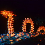 A giant spider web, constructed completely of pumpkins, mesmerizes visitors at The Blaze. Spectators come from 50 states to see the event, which has been staged in the Hudson Valley since 2005. Profits from the annual event are used to educate New York State students about the area's history.
