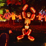 Pumpkin skeletons perform with backup ghosts at The Blaze in New York's Hudson Valley. More than 120,000 visitors are expected to attend the seven-week event, orchestrated by Historic Hudson Valley, an organization dedicated to teaching students about the area's history area and preserving historic properties.