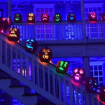 Pumpkins of every mood line the stairway and porch at the historic Van Cortlandt Manor in Croton-on-Hudson, N.Y., where visitors can learn what life was like in the years just after the Revolutionary War.