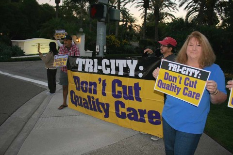 Tri-City frontline workers protest possible outsourcing