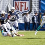 San Diego Chargers wide receiver Javontee Herndon (81) returns a punt during the second quarter. Photo by Bill Reilly