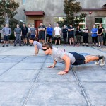 SEALFIT coaches demonstrate the correct way to perform a push up. Photo by Bill Reilly