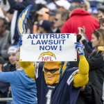 San Diego Chargers fans express their frustration about a possible move out of San Diego after the 2015 season ends. Photo by Bill Reilly