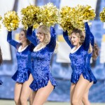 The San Diego Chargers cheerleaders perform during a TV time out in the third quarter. Photo by Bill Reilly