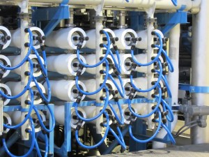 "Thousands of membranes filter saltwater into potable water at the Claude ""Bud"" Lewis Carlsbad Desalination Plant. Photo by Steve Puterski"