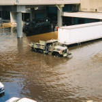 Paul Harris, a former San Diego resident, took this photo near the Superdome two days after Hurricane Katrina flooded New Orleans in August 2005.