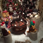 Woodland animals roast marshmallows around a campfire in one of the 14 themed rooms that are part of the 300-foot walkway that is Kraynak's Santa's ChristmasLand.  The 20,000-square-foot store in Hermitage, Penn., specializes in holiday décor year-round. The display opens annually Sept 10.