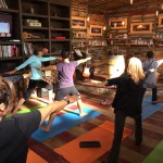 As a part of a four-day wellness program offered by the Hotel Coral in Ensenada, participants get a yoga session in the tasting room at Quinta Monasterio Winery in Valle de Guadalupe. Other activities at the winery include a tour of the property, spa and the wine cave, and an al fresco brunch.