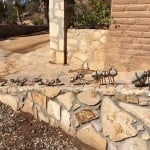 An ant parade, fashioned from river rocks and leather, delights visitors at the Quinta Monasterio Winery in Baja's Valle de Guadalupe (Guadalupe Valley), just east of Ensenada.