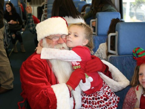 The Holiday Express chugs into Oceanside