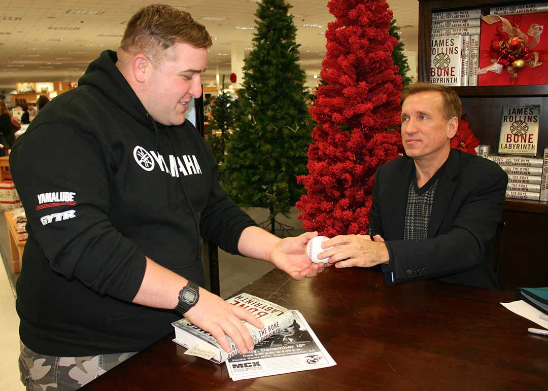 James Rollins book tour stops in Camp Pendleton