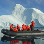 Natural Habitat Adventures takes participants out in Zodiacs to explore Greenland's remote eastern coast near the edge of the Greenland ice sheet.  Called the Arctic Riviera, the east coast offers what experienced travelers say is some of the best hiking and kayaking in the world. (Courtesy photo)
