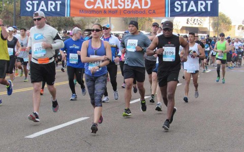 Carlsbad marathon brings out thousands of runners