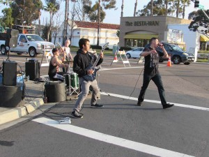 Metal band Thrown from the Wreckage performs during the 25th Tri-City Medical Center Carlsbad Marathon on Sunday. Photo by Steve Puterski