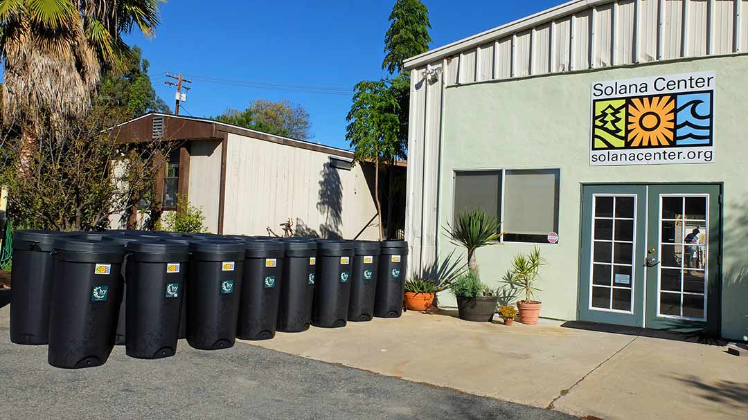 Rain barrel sales booming at Solana Center