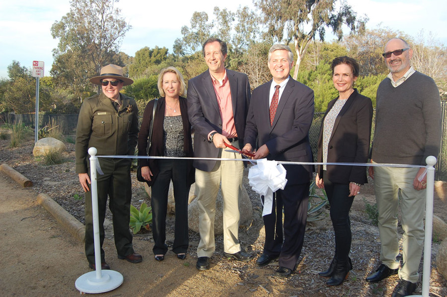 Officials celebrate sign, park upgrades