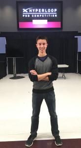 Tyler Chen, a former Pacific Ridge School student, is part of an engineering team at the University of California, Berkely working on a project to develop a functional Hyperloop pod. Courtesy photo