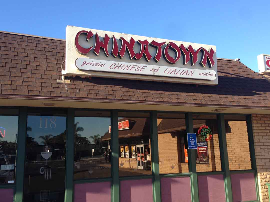 Chinese & Italian together at Chinatown – Only in funky Leucadia