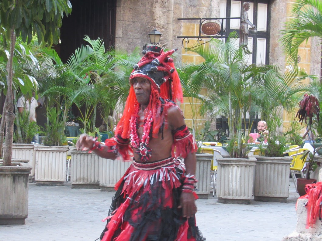 """This older man on a street corner in Havana was """"just dancing to whatever music he heard and enjoying himself,"""" Margaret said. """"There was a nearby jazz combo playing. He's a good example of how colorful the streets are."""" Photos by Jim Janis"""