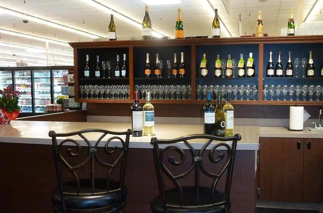 The new Gelson's Markets are introducing wine tasting bars next to their wine departments. The Del Mar location is shown. Photo by Frank Mangio