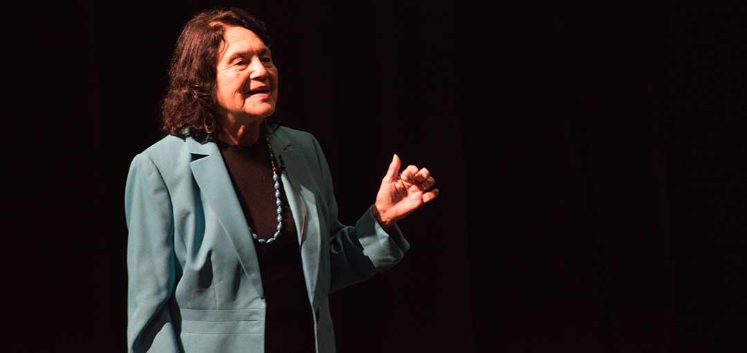 'Get involved' Huerta  tells students at Palomar