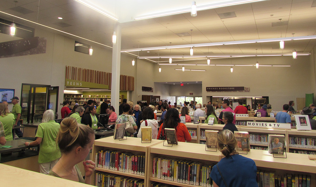 City, patrons celebrate library's re-opening