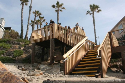 City replaces aged beach stairways