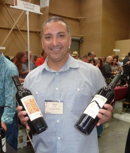 Delectus wines from Napa Valley are the buzz of the Family Winemakers event in Del Mar recently. General Manager Steve Miller displays his best cabs. Photo by Frank Mangio