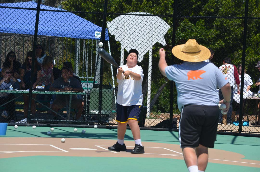 """Anthony """"Home run"""" Herman smashes a pitch during the home run derby. Photo by Tony Cagala"""
