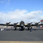 A B-17 Flying Fortress is one of the planes part of the Flying History tour. Photo by Tony Cagala