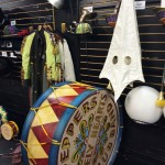 "Props from ""The Beatles LOVE by Cirque du Soleil"" are stored backstage at the theater in the Mirage Hotel & Casino. Yes, that's a KKK hood, used in a segment of the show that addresses racism. The show celebrates its 10th anniversary this summer. Since its conception, sound and light technologies have evolved enough that the producers of ""LOVE"" recently gave it a technical and artistic makeover. The theater has installed new equipment, and reworked the music and stunning acrobatic presentations. ""LOVE"" is staged in-the-round, so no one in the audience is more than 100 feet from the action."