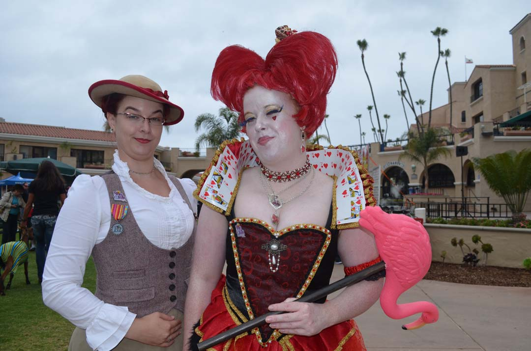 """Erin Osterlind, left, and Melinda Layden as the """"Queen of Hearts"""" from the """"Alice in Wonderland"""" story at the fairgrounds. Photo by Tony Cagala"""