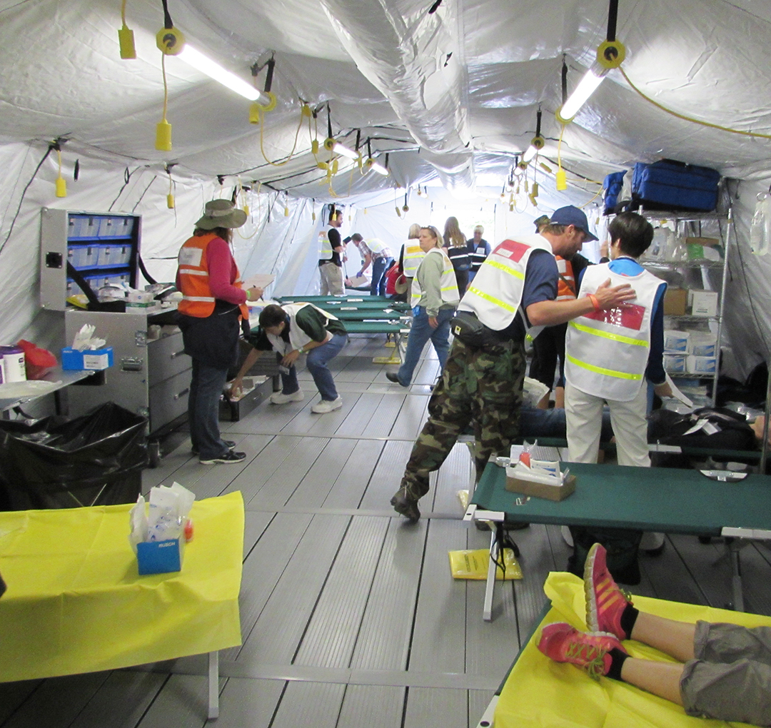 Emergency responders take part in county drill