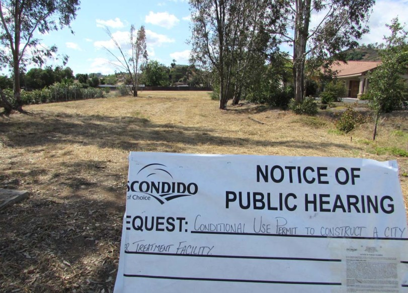 A proposed recycled water facility in Escondido was put on hold indefinitely Wednesday during the City Council meeting. Residents expressed concerns about potential health risks to the nearby neighborhood. Photo by Steve Puterski