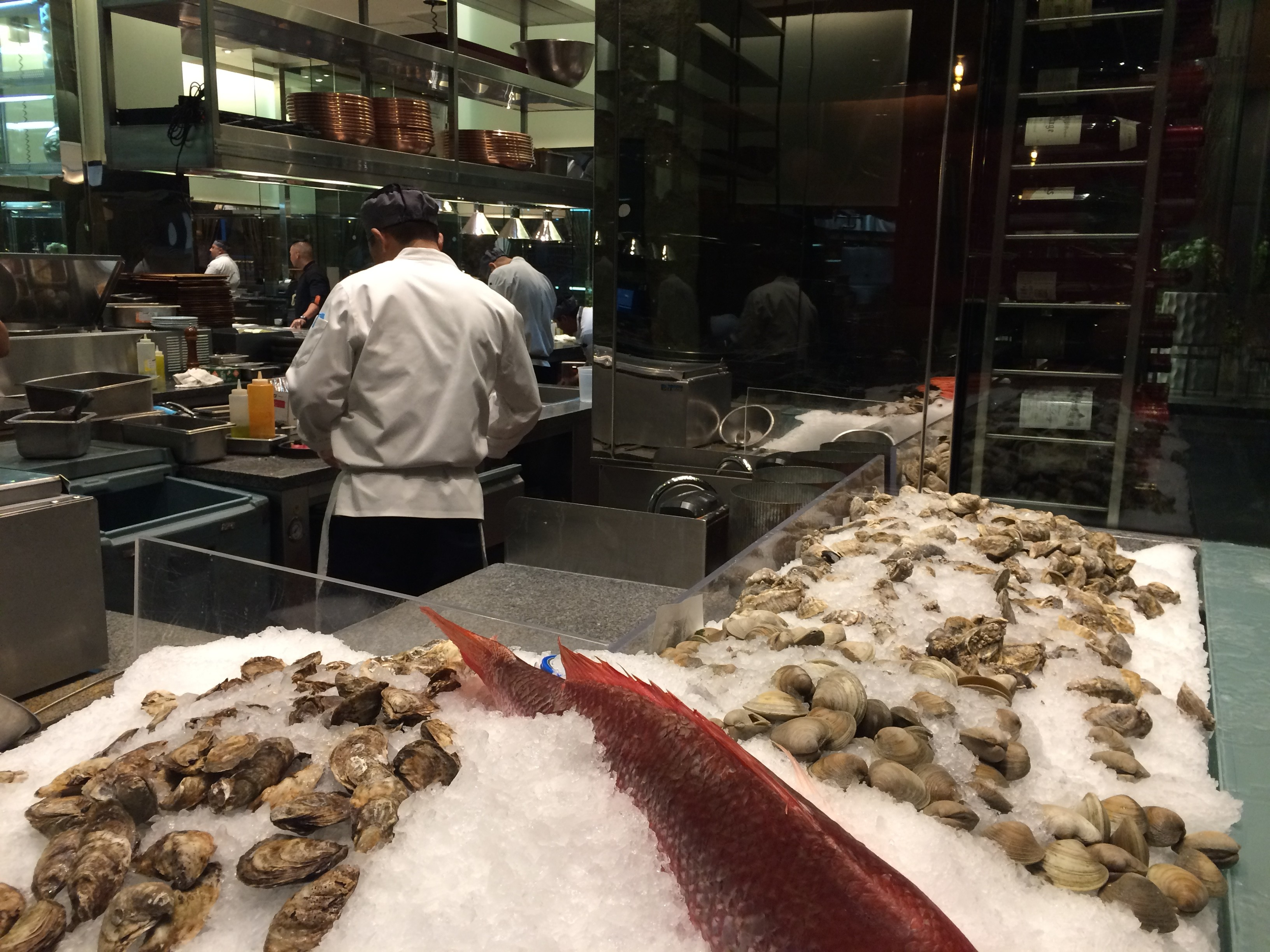 Guests at the Harvest Restaurant at the Aria Resort & Casino, which features seasonal cuisine inspired by regional farms, can watch the chefs at work. The staff gladly accommodates those with allergies and gluten-free needs. Photo by E'louise Ondash