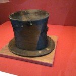 The stovepipe hat that Abraham Lincoln wore sits under glass at the Abraham Lincoln Presidential Museum in Springfield, Ill. It's said that he tipped his hat to every woman he passed on the street; hence the worn spots on the brim.