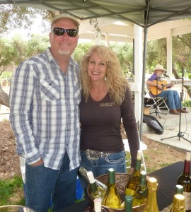 Veteran winemaker Jim Hart, shown with his wife Christine, now own Volcan Mountain Winery in Julian featuring apple sparkling wine. Photo by Frank Mangio