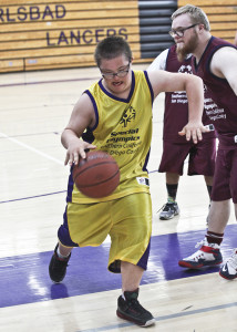 Special Olympians take to the hardwood during the San Diego County's Special Olympics Regional Spring Games at Carlsbad High School on May 14. Courtesy photo