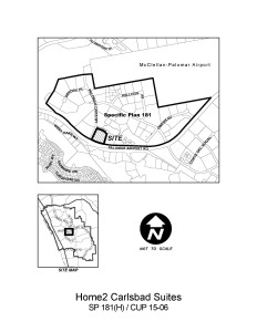City of Carlsbad  SP 181(H)/CUP 15-06 CN18844 Map