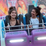 Fairgoers enjoy one of the rides on Opening Day. Photo by Pat Cubel