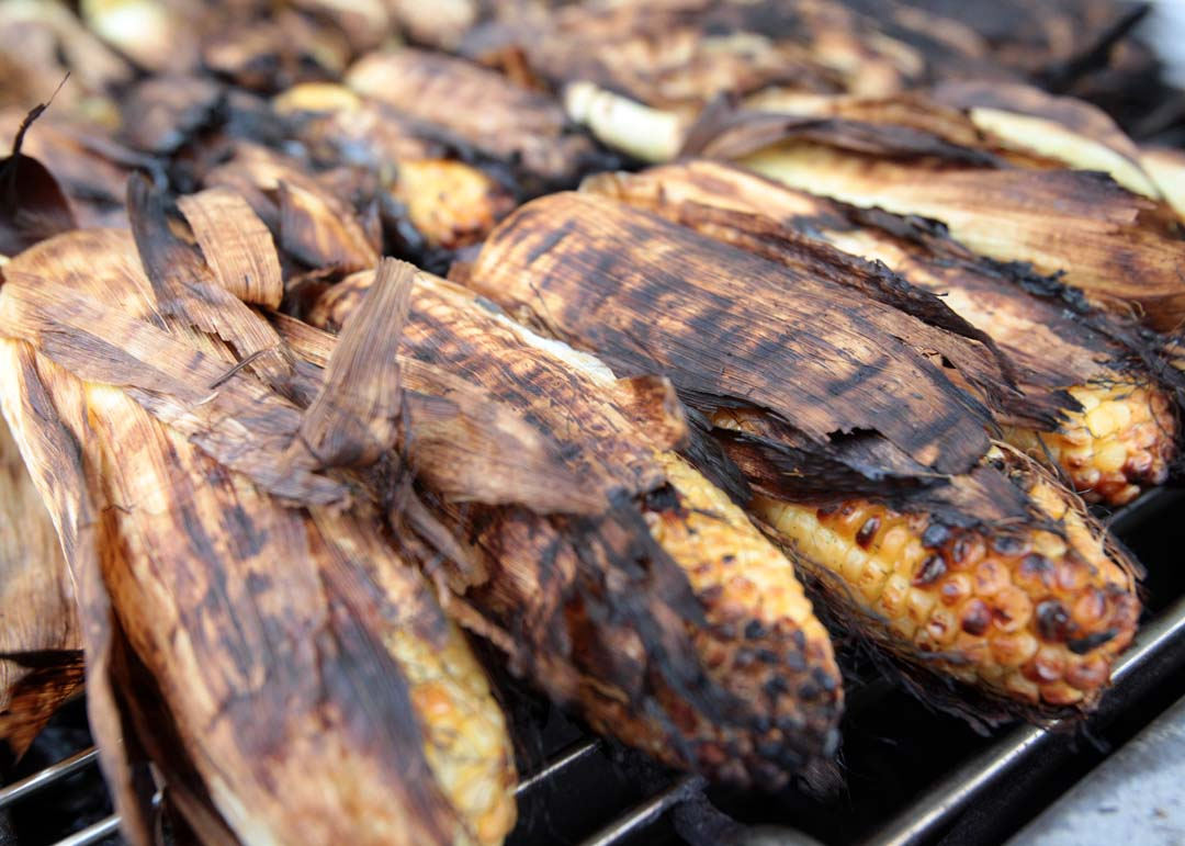 Opening day at the San Diego County Fair features a return of fairgoers' favorite foods, including jumbo turkey legs, grilled corn and many other favorites. The Fair runs through July 4. Photo by Pat Cubel