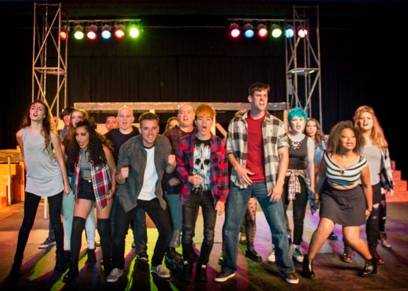 """The Patio Playhouse Theatre's cast of Green Day's """"American Idiot"""" will begin performances June 24 at the Kit Carson Park Amphitheatre in Escondido. Photo by Matt FitzGerald"""