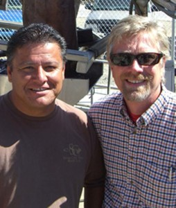 Winemaker Javier Flores and Master Winemaker Jon McPherson of South Coast Winery in Temecula Valley. Courtesy photo
