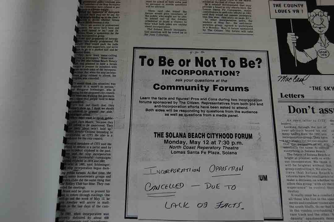 The 30th anniversary celebration featured newspaper clippings from 1986 as the city made its third attempt at cityhood.