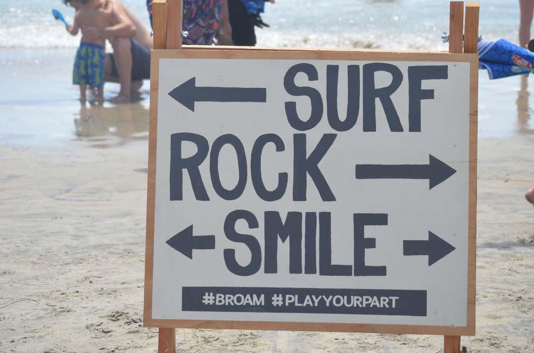 A sign guides the way to all things at the annual Switchfoot BroAm. Photo by Tony Cagala