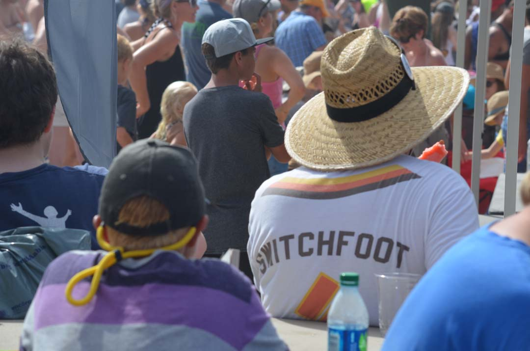 Just one of many Switchfoot fans shows support for the band on Saturday. Photo by Tony Cagala