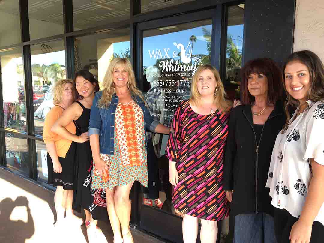 The crew at Wax & Whimsy in Solana Beach give Lick the Plate readers some of their favorite places to eat around town. Photo by Jean Vavra