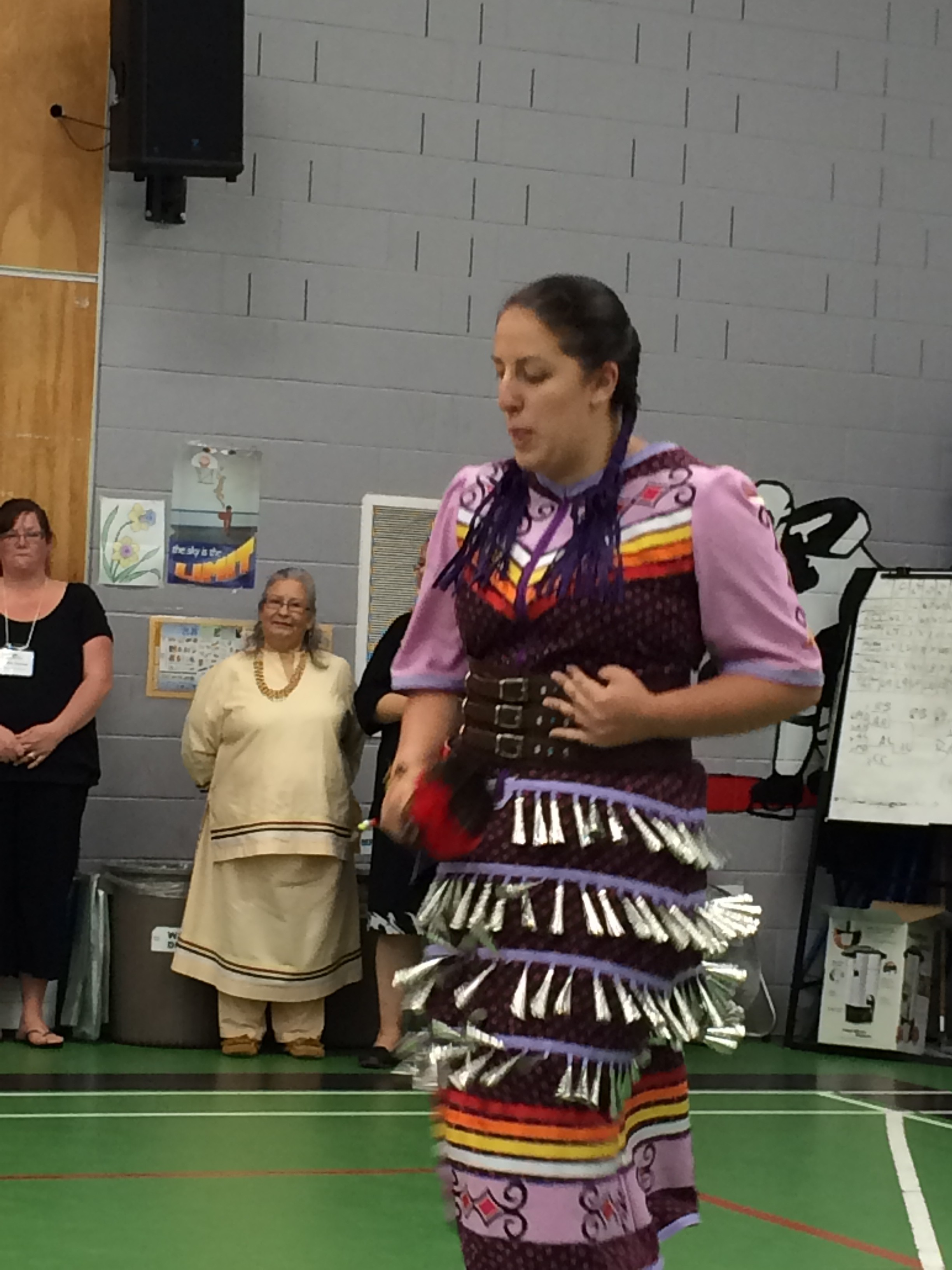 A Mi'kmaq dancer performs a traditional dance during a welcoming ceremony on Lennox Island. About 400 Mi'kmaq live on the island; another 500 live off-island. Mi'kmaq once inhabited huge areas of eastern Canada and New York.  Photo by Jerry Ondash